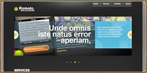 Romolo a One Page Portfolio template [PSD]