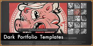 Tumblr like Dark Portfolio Templates [PSD]