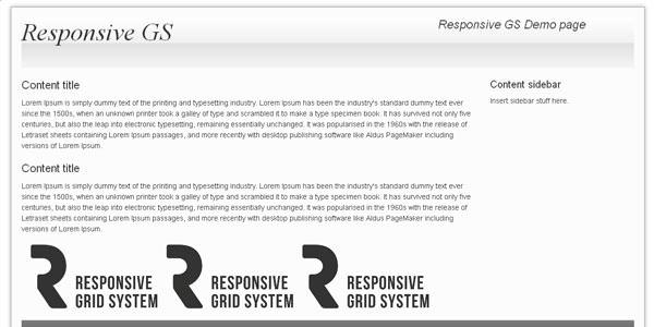 Responsive GS - Fluid grid CSS framework 02