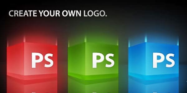 Creative Logo Design. Photoshop Tutorials 3D Glossy Box Logo