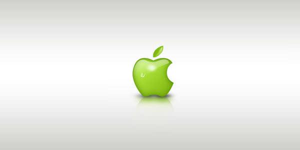 Famous Brands Logo Design. Photoshop Tutorials Green Apple