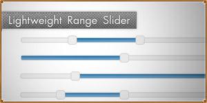 Lightweight jQuery Range Slider. noUiSlider