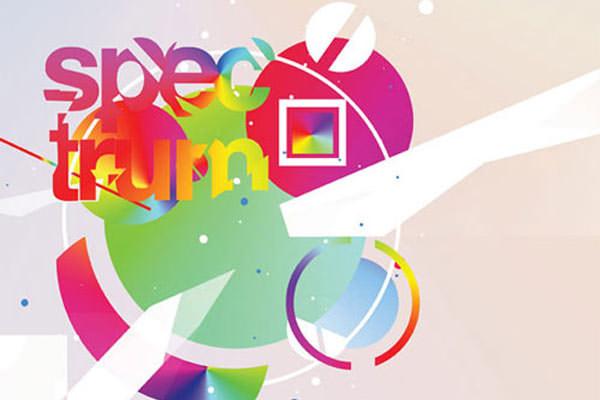 Abstract Typographic Posters. Photoshop Tutorials Spectrum Poster