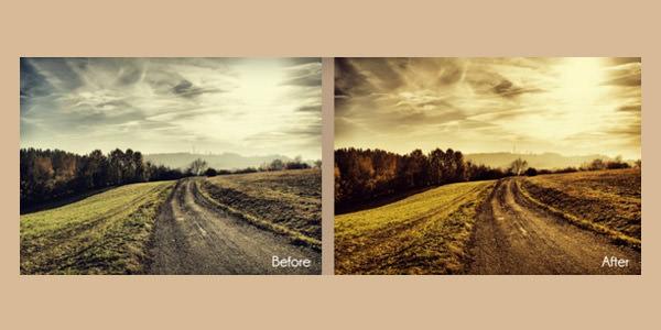 Landscape Enhancement. Photoshop Actions 01