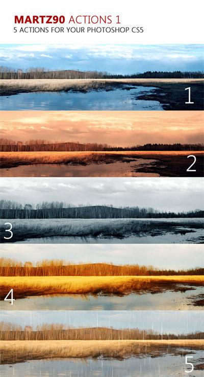 Landscape Enhancement. Photoshop Actions 02