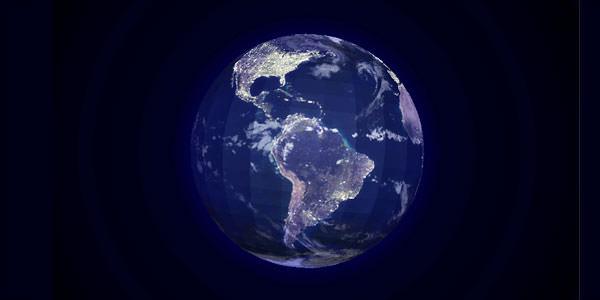 CSS 3D Earth. PerspectiveTransform 02