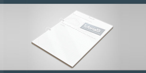 Free Light and Clean Notepad Templates [PSD] 01