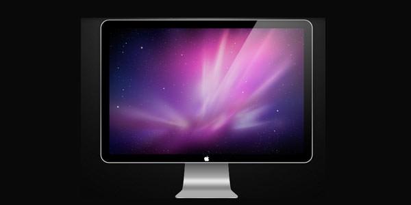 Computer and TV LCD-LED Display Templates [PSD] Apple Cinema Display PSD
