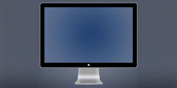 Computer and TV LCD-LED Display Templates [PSD] Apple LED Cinema Display