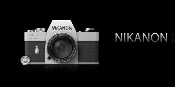 Free Digital and Photo Camera Templates [PSD] Nikanon PSD