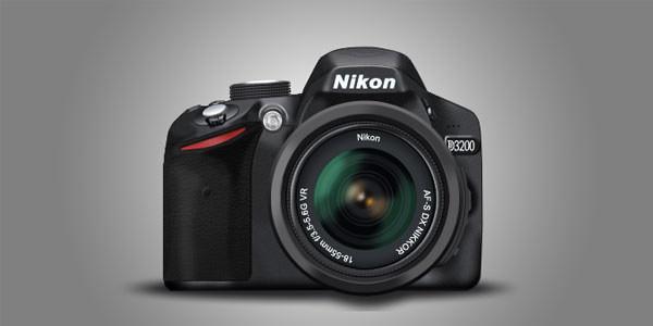 Free Digital and Photo Camera Templates [PSD] Nikon D3200 PSD