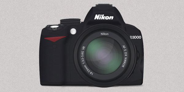 Free Digital and Photo Camera Templates [PSD] Nikon D3000