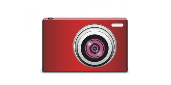Free Digital and Photo Camera Templates [PSD] Stylish Digital Camera