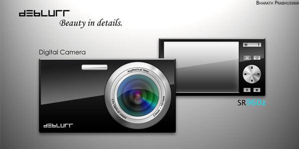 Free Digital and Photo Camera Templates [PSD] Digital Camera 12.1 MP