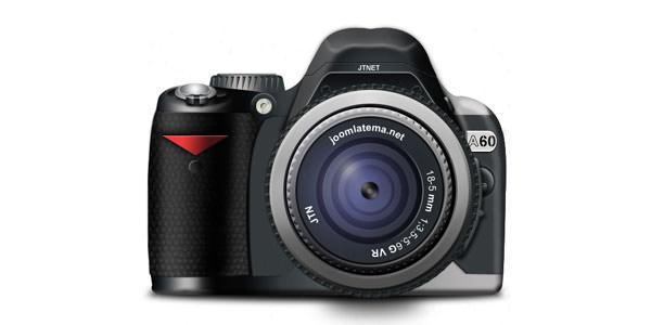 Free Digital and Photo Camera Templates [PSD] 01