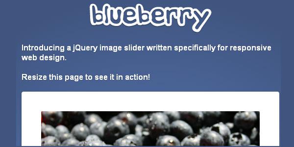 Fluid-responsive jQuery image slider. Blueberry