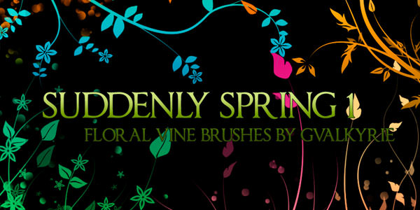 High quality Photoshop Floral Brushes Suddenly Spring