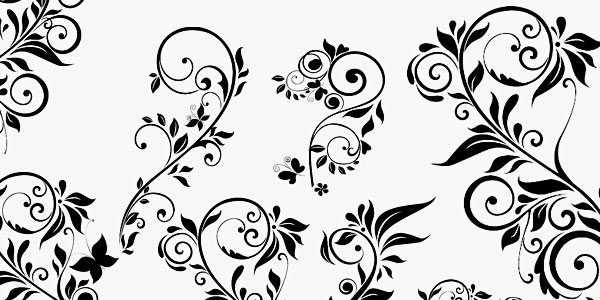 High quality Photoshop Floral Brushes 20