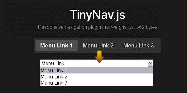 Responsive navigation plugin. jQuery TinyNav