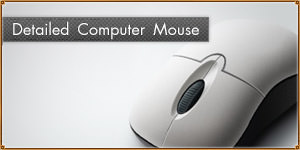 Detailed Computer Mouse. Photoshop Templates, Tutorials [PSD]