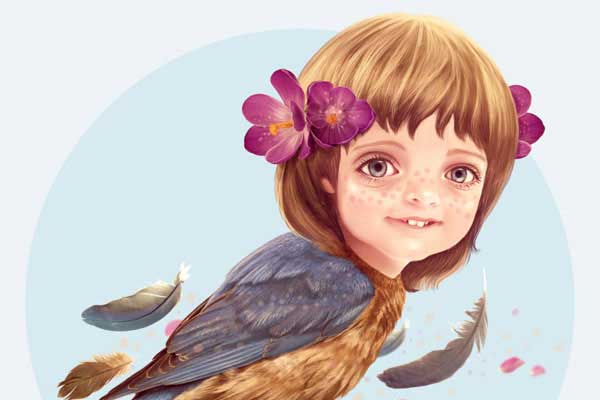 Impressive Fantasy Art Photoshop Tutorials. Create a Fantasy Girlbird Illustration in Photoshop