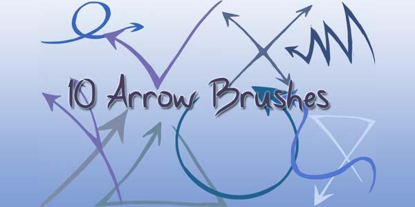 Free Hand Drawn Photoshop Arrow Brushes and Symbols. Arrow brushes