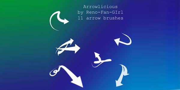 Free Hand Drawn Photoshop Arrow Brushes and Symbols. Brushset : Arrowlicious