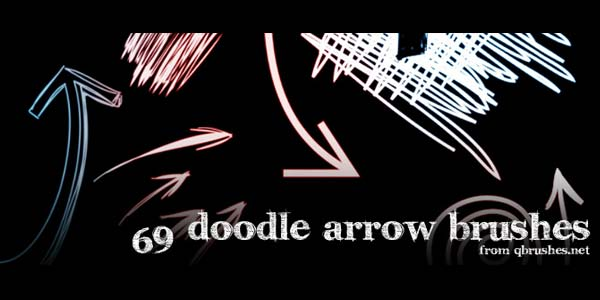 Free Hand Drawn Photoshop Arrow Brushes and Symbols. 69 Doodle arrows