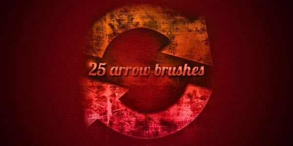 Free Hand Drawn Photoshop Arrow Brushes and Symbols. Grungy Arrow Brushes
