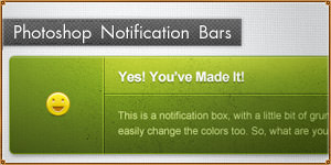 Notification/Alert Blocks, Bars, Boxes [PSD]