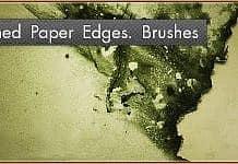 Burned Paper Edges. Photoshop Brushes