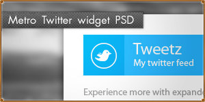 Twitter widget in Windows 8 style [PSD]