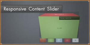 Responsive, Image-based Content Slider. jQuery RefineSlide