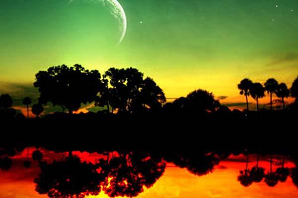 Creating Fantasy Illustration and Magic Scenes. Photoshop Tutorials. The Magic Night