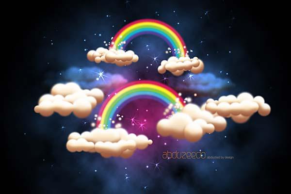 Creating Fantasy Illustration and Magic Scenes. Photoshop Tutorials. Creating A Fantastic Fantasy Night Sky In Photoshop