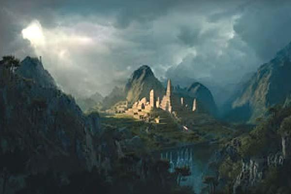 Creating Fantasy Illustration and Magic Scenes. Photoshop Tutorials. Fantasy digital matte painting