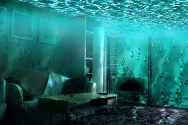 Creating Fantasy Illustration and Magic Scenes. Photoshop Tutorials. Underwater Room