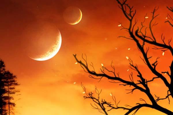 Creating Fantasy Illustration and Magic Scenes. Photoshop Tutorials. The Orange Sky