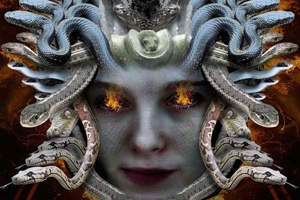 Creating Fantasy Illustration and Magic Scenes. Photoshop Tutorials. Creating Medusa With Photo Manipulation