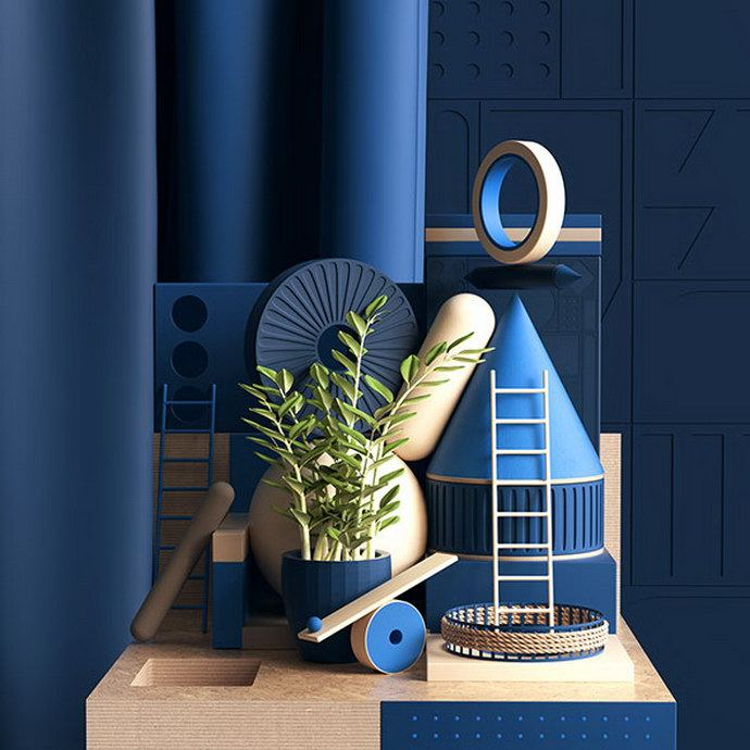3D abstractions by Peter Tarka