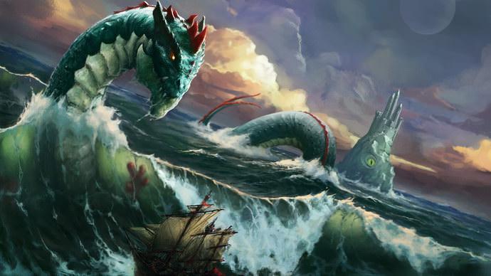 Sea monster wallpaper pack
