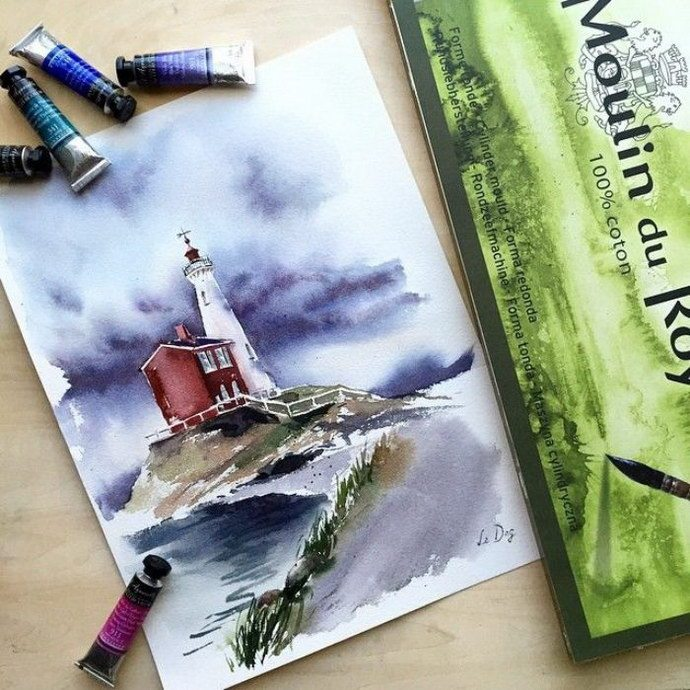 When spring and love lives in the heart. Lena Degtyarenko's magic watercolor artworks