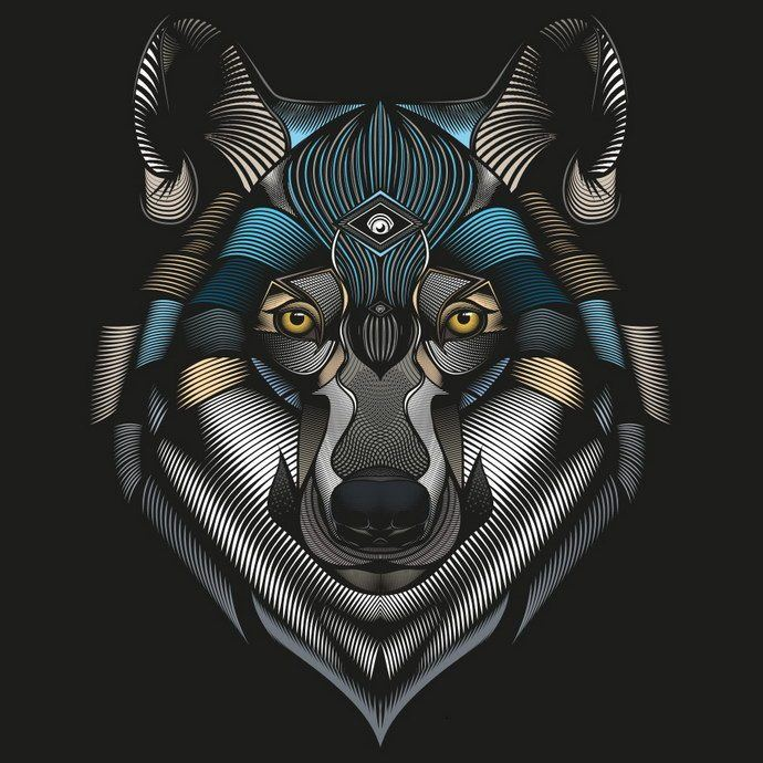 Awesome Vector Illustration. High detailed abstractions and low poly animals that catch your eyes
